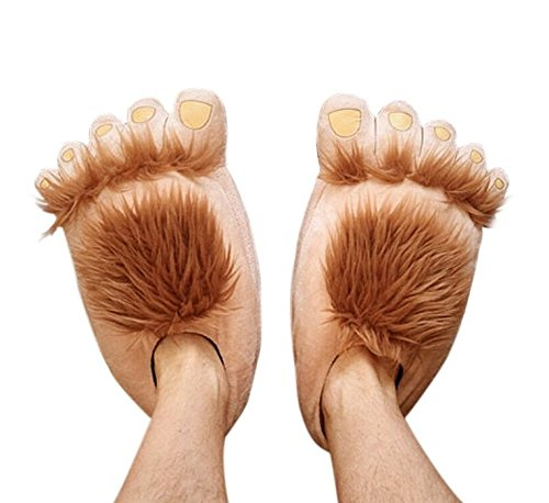 Soondar® Furry Monster Adventure Slippers, Comfortable Novelty Warm Winter Hobbit Feet Slippers for Adults