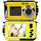 PowerLead Gapo G050 Double Screens Waterproof Digital Camera 2.7-Inch Front LCD Easy Self Shot Camera