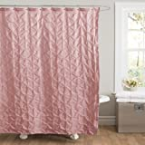 Lush Decor Lake Como Shower Curtain, 72 by 72-Inch, Pink