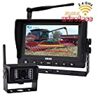Digital Wireless Rear View Backup Camera System, 7 LCD Monitor+1 Reverse Camera, Cab Video Observation System, Cctv Sercurity Kit for Agriculture, Forklift, Trailer, Rv, Motorhome
