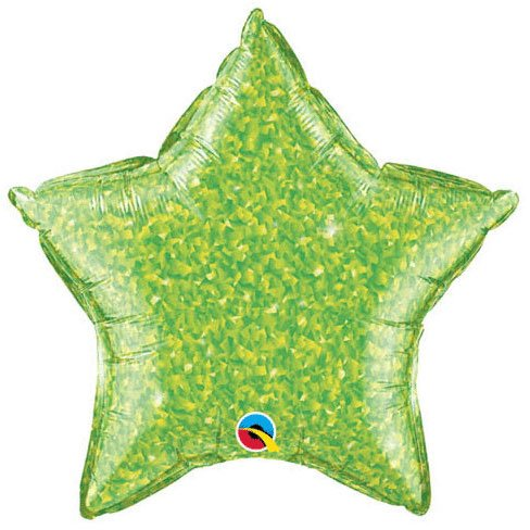 Star Crystalgraphic Foil Balloon (Lime Green) Party Accessory - 1