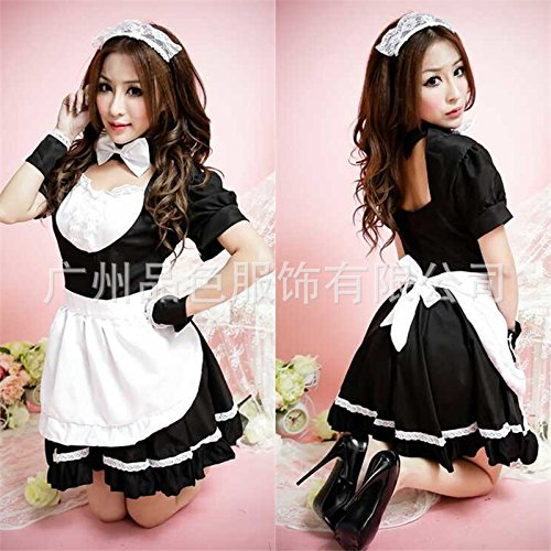 [Fashion. Cute. The temptation of the coffee shop maid maid Maid Costume cartoon character costume Japanese game] (Cartoon Character Costumes Male)