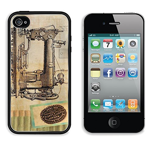 MSD Premium Apple iPhone 4 iPhone 4S Aluminum Backplate Bumper Snap Case Free illustration Sewing Vintage Machine Steampunk Image 1123718 (Iphone 4s Cases Sewing Machine compare prices)