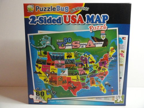 USA MAP / PUZZLE (Two Sided) - 1