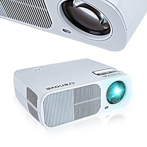 Projector crenova bl20 xpe600 led video projector home for Led projector ipad