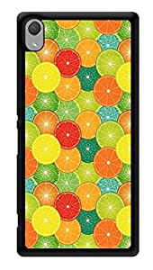 "Humor Gang Orange Slices Multicolor Printed Designer Mobile Back Cover For ""Sony Xperia Z3 - Sony Xperia Z3 Plus"" (3D, Glossy, Premium Quality Snap On Case)"