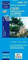 Top25 3445OT ~ Cuers, Pierrefeu-du-Var, Collobrieres carte de randonnée avec une règle graduée gratuite