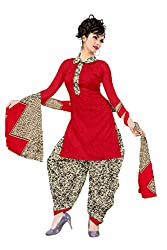 Araham Printed Maroon & Beige Synthetic Polyester Unstitched Salwar Suit Dress Material