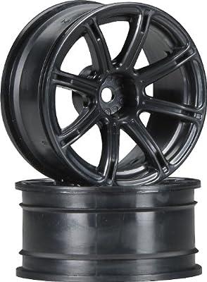 HPI Racing 3307 Work Emotion XC8 Wheel with 6mm Offset (Set of 2), 26mm, Black