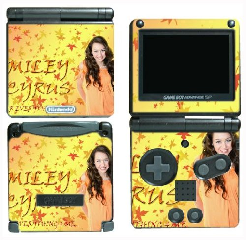 Gamerz Skinz New Hannah Montana Miley Cyrus Movie Vinyl Decal Skin Protector Cover 5 For Nintendo Gba Sp Gameboy Advance