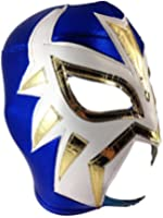 LA MASCARA Adult Lucha Libre Wrestling Mask (pro-fit) Costume Wear - Blue