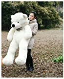 white color classic 47 Giant Huge Cuddly Teddy Bear Toy Doll Soft Plush Stuffed Animal XMAS toy gift
