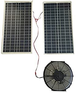 Amtrak Solar 70W Solar Attic Fan by Amtrak Solar