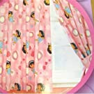 Kids/Childrens Dora the Explorer Dancing Design Curtains with Tie Backs