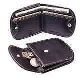 プラスエイチ(Plus H) コンパクト財布 メンズ レディース 小銭入れ付き 二つ折り 本革 札入れ カード入れ レザー PH8049
