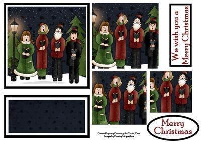 Weihnachtslieder-Staffelei, Design von Amy Cummings