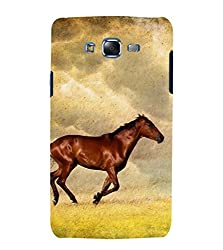 Fiobs Horse Back Case Cover for Samsung Galaxy J5 (2015)::Samsung Galaxy J5 J500F (Old Version)