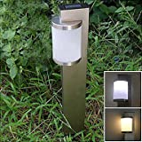 White Solar Stainless Steel Stake Light Garden Path Lighting (Cis-57159)