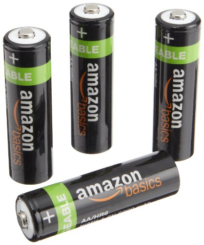 AmazonBasics AA NiMH Precharged Rechargeable Batteries-4 Pack
