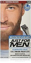 Just For Men Brush-In Mustache Beard and Sideburns Medium Brown - Kit