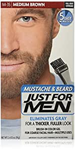 Just for Men Just For Men Brush In Mustache Beard and Sideburns Medium Brown Kit
