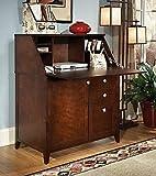 kathy ireland Office by Bush Furniture Grand Expressions Secretary Desk, Warm Molasses