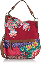 Desigual Bols Folded Canefa, Sac bandoulière - Multicolore (3070 Purple Potion), Taille Unique