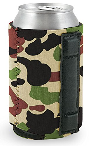 Magnetic Neoprene Collapsible Can Coolie (Camo) (Camo Can Koozie compare prices)