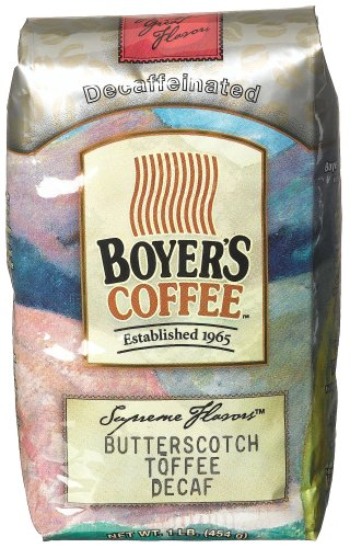 Boyer's Coffee Butterscotch Toffee Decaf, 16-Ounce Bags (Pack of 2)