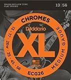D'Addario ダダリオ エレキギター弦 フラットワウンド Medium .013-.056 ECG26 【国内正規品】