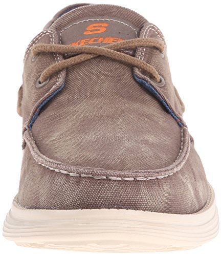 Skechers Usa Men S Status Melec Boat Shoe Charcoal  D