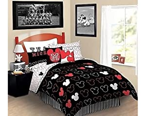 Disney Mickey Mouse Love Full Bed-in-Bag Bedding Set