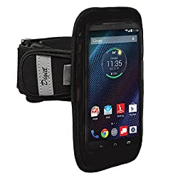 High Quality Neoprene Armband for Motorola Droid Turbo Sweat / Water Resistant Gym Exercise Jogging Sports Strap with Reflective Safety Strips (use with or without case)