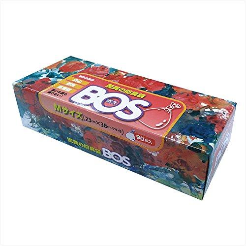 驚異の防臭袋 BOS (ボス) Mサイズ 90枚入り おむつ ・ うんち ・ 生ゴミ などの 処理 に最適 【袋カラー:ホワイト】