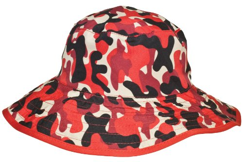 Banz Reversible UV Bucket Sun Hat - Red Camo 0-2y