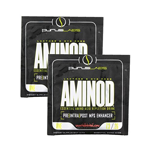 Aminod By Purus Labs, Sample Pack - Pre/Intra/Post-Workout Mps Enhancer Supplement: 2 Packets (Jolly Watermelon)