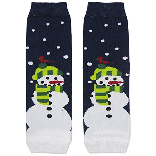 New Snowman Cotton Baby Knee Pads Leg Warmer/ Leggings Navy 80611001