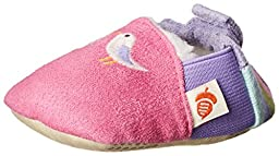 ACORN Toddler Easy-On Moc Slipper (Infant-Toddler-Little Kid-Big Kid),Bubble Gum,Small (0-6 Months M US Infant)