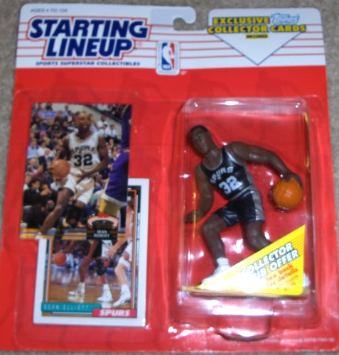 1993 Sean Elliott San Antonio Spurs Kenner SLU Starting Lineup NBA figure