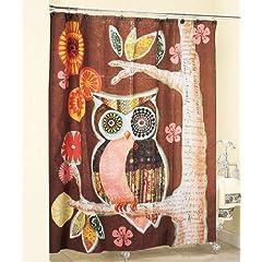 Owl Friend Shower Curtain