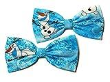 Disney Inspired Hairbows-frozen,elsa Hair Bow, Elsa Cosplay, Glitter--for Girls, for Teens, for Women (Olaf, Frozen, Alligator Clip)
