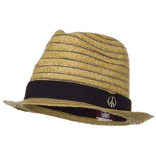 ML Peace Band Straw Fedora Hat at Amazon.com