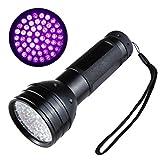 Virocana UV light -395nm 51 UV Ultraviolet LED Flashlight Battery Operated Blacklight Purple light