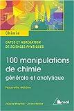 echange, troc Jacques Mesplède, Jérôme Randon - 100 manipulations de chimie : Générale et analytique