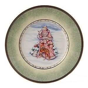 Fitz & Floyd Winter Holiday Portrait Salad Plate
