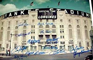 New York Yankees Yankee Stadium Autographed Hand Signed photo 16x20 signed by Whitey... by Hall of Fame Memorabilia