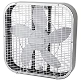 Holmes HBF2010A-WM 21-Inch by 4.5-Inch Box Fan, 3 Speed-Settings, Metal Frame, 20-Inch Blade, White (Kitchen)
