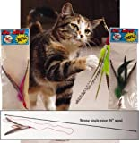 Da Bird Value Pack (1 Da Bird Original Single 3 Foot Pole Cat Toy & 2 Extra Guinea Feather Refills)