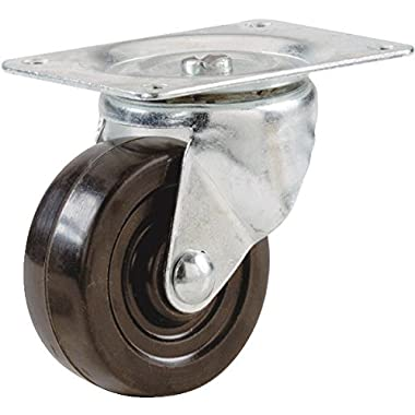 Shepherd Hardware 9477 Soft Rubber Swivel Plate Caster-2