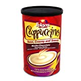 Folgers Cappuccino, Mocha Chocolate Coffee Beverage Mix, 16-Ounces Canisters (Pack of 6)